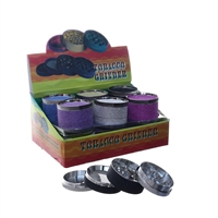 4 Parts 2.0'' Glitter Zinc  Grinder Display (12pcs)