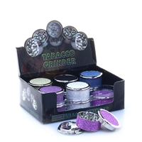 3 Parts Glitter Zinc  Grinder Display (12pcs)