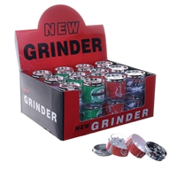 4 Parts Plastic Cans Grinder Display (24pcs)