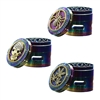 3D Top 4 Pieces 2.5 '' Zinc  Grinder Rainbow With Storage Window