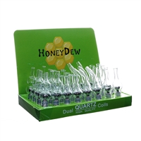 HoneyDew Glass Globe Assorted Display + Dual Quartz Coils - 32ct