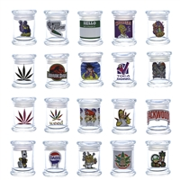 Airtight Glass Jar With Decals  Medium 4''x3''