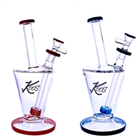 KOOS Glass  Water Pipe with Shower Head Perc  9""