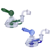 KOOS Glass Water Pipe Micro Shower Head Perc + Banger  4""