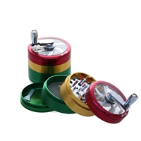 KALI KUTZ 4PCS 2.2''  ALUMINUM GRINDER WITH HANDEL / WHEEL ( closeout deal )