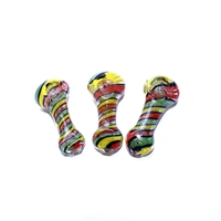 "LT-HP36 3"" Spiral Rasta Thick Pipe"