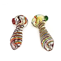 LT-RN03 4.5'' Rasta line color marble head pipe