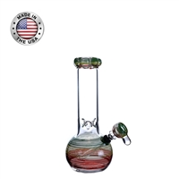 "10"" Rasta Bubble With Ice - Matching Slide Bowl"