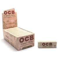 OCB Organic 2 in 1  1¼ size Rolling Papers With Tips  Box-24