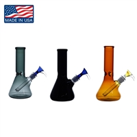 PL55  8'' Colored Beaker Water Pipe * Made in the U.S *