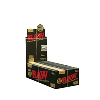 Raw Natural Unrefined Single Wide Black Box-25