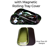 Metal Rolling Tray with Magnetic Cover 8''X4''