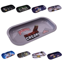 Mini Metal Rolling Tray : 8''x4'' ( 18 Design )