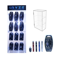 RYZE 350mAh Twist Variable Voltage 510  w/ USB Charger - 72 Count With Display