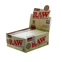Raw Organic - King Size Rolling Paper (Slim) Box-50