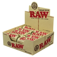 RAW® - Hemp Wick 6 Meter (20ft) - Display of 20