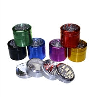 Sharper 4 Piece 2.0''  Clear Top  Aluminum Grinder