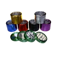Sharper 4 Piece 2.5''  Clear Top  Aluminum Grinder