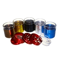 Sharper 5 Piece 2.5'' w/ Clear Lid Part  Aluminum Grinder