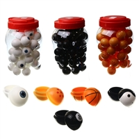 Silicone Ball Container  - Jar of 50