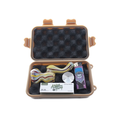 SMOKERS TRAVEL KIT (BUBBLER) 6.5''X 4''