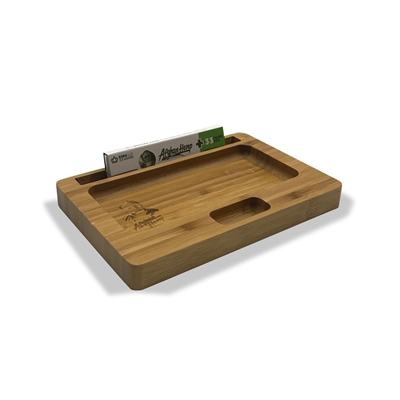Afghan H Wooden Rolling Tray  Small