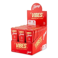 Vibes Cones 1 1/4 - 6pk - Hemp - 30ct