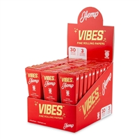 Vibes Cones King Size Slim - 3pk - Hemp - 30ct