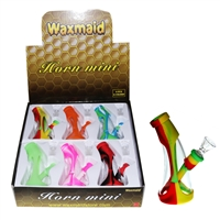 Waxmaid Silicone & Glass Waterpipe - Horn Mini