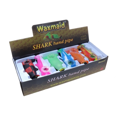 Waxmaid Shark Silicon Hand Pipe ( 12 per display)