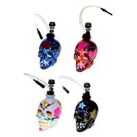 Mini Skull Glass Water Pipe