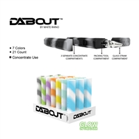 White Rhino DABOUT Silicone Kit With Quartz Glass Tip  Glow ( 21 Per Display)