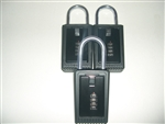 3 Lock Boxes Realtor Real Estate Key 4 number digit dials door lockboxes handle