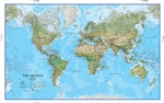 World, Physical, laminated by Maps International Ltd.