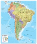 South America, Political, laminated by Maps International Ltd.