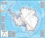 Antarctica, Political, laminated by Maps International Ltd.