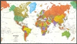 World, Political, Tyvek, laminated, sleeved by Magna Carta Maps, Ltd.