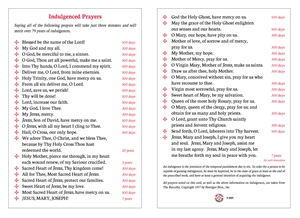 "<b><font color=""#FF0000"">Indulgenced Prayers</font></b>"