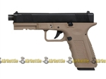 Echo1 / Socom Gear Two Tone Timberwolf Gas Blow-Back Pistol with Quick Change Backstrap Airsoft Gas Pistol ( Tan / Black )