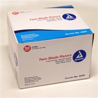 Twin Blade Razors - Case of 6 boxes