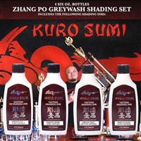 Zhang Po Greywash Shading Set - 4 bottle set - 6oz