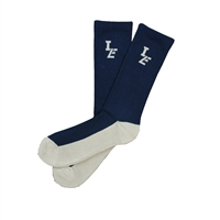 Sock 101 - IZE Navy and Gray Athletic Long Sock