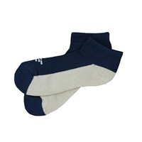 Sock 101 - IZE Navy and Gray Athletic Short Sock
