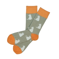 The School of Sock - The Gray and Orange Cat Charity Sock