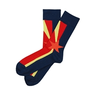 The School of Sock - The Arizona Navy, Red, Yellow and Orange Arizona Flag Sock