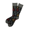 The School of Sock - The Arrow KC Red, Black and Yellow Kansas City Sock