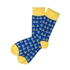 The School of Sock - The Bay Area Blue and Yellow Golden Gate Bridge Sock