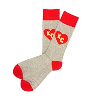 The School of Sock - The Reid KC Red and Yellow Kansas City Big and Tall Sock