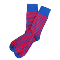The School of Sock - The Blue and Red Jayhawk Kansas Sock