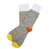 The School of Sock - The Candy Corn Gray, Orange and Yellow Halloween Sock